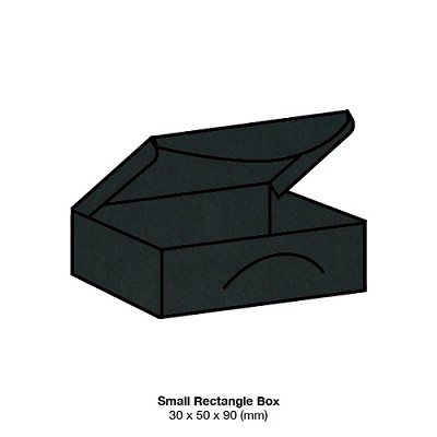 Bloom Small Rectangle Box 300gsm Ebony