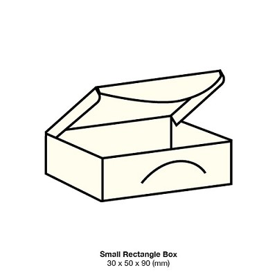 Marshmallow Small Rectangle Box 261gsm Warm Ivory