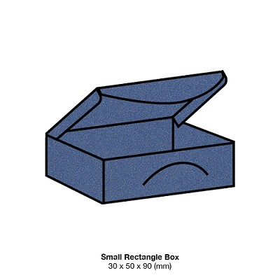 Glamour Puss Small Rectangle Box 285gsm Blue Steel