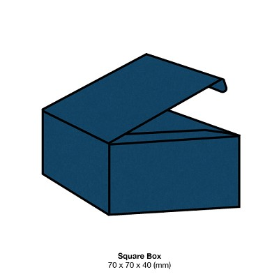 Bloom Square Box 270gsm China Blue