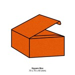 Eco Grande Square Box 308gsm Burnt Orange