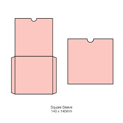 Bloom 140x140 Square Sleeve 270gsm Blush