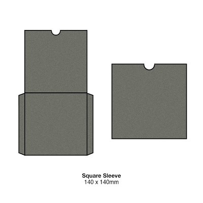 Gmund Colors 140x140 Square Sleeve 300gsm Slate Grey-57