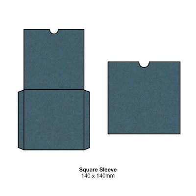 Gmund Colors 140x140 Square Sleeve 300gsm Marina-14