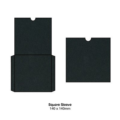 Bloom 140x140 Square Sleeve 300gsm Ebony