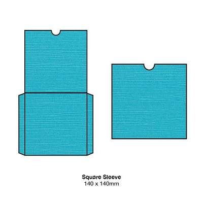 Zsa Zsa 140x140 Square Sleeve 198gsm Tiffany