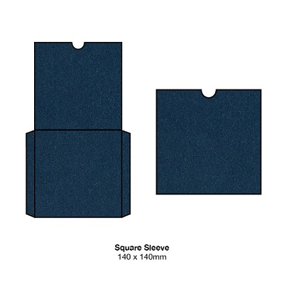 Glamour Puss 140x140 Square Sleeve 250gsm Blue Moon