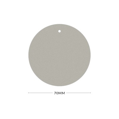 Gmund Colors 70mm Round Tag with Optional Hole 300gsm Cement-23