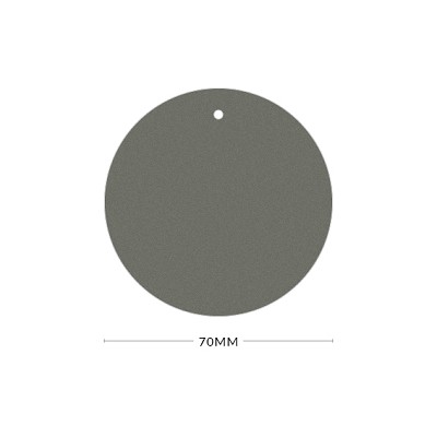 Gmund Colors 70mm Round Tag with Optional Hole 300gsm Slate Grey-57