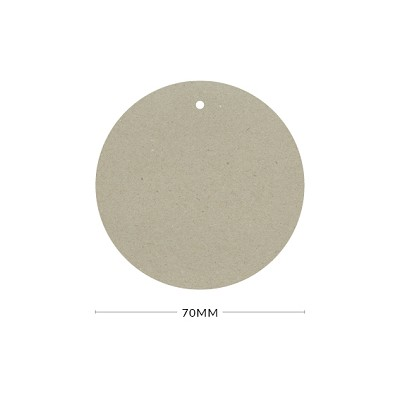 Botany 70mm Round Tag with Optional Hole 230gsm Naturaliste