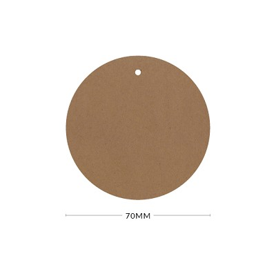 Buffalo Board 70mm Round Tag with Optional Hole 283gsm Natural Brown