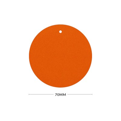 Eco Grande 70mm Round Tag with Optional Hole 308gsm Burnt Orange