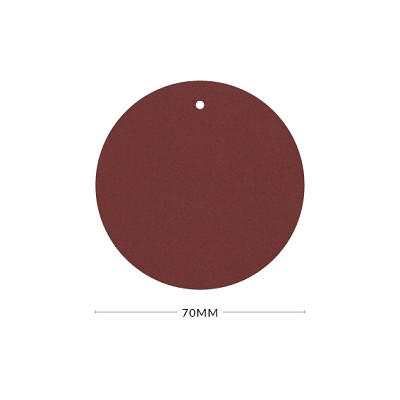 Eco Grande 70mm Round Tag with Optional Hole 308gsm Marsala