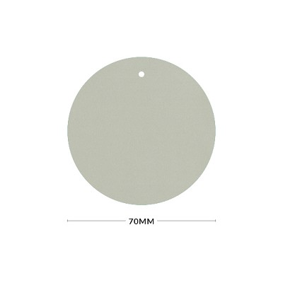 Eco Grande 70mm Round Tag with Optional Hole 308gsm Mist Grey