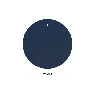 Eco Grande 70mm Round Tag with Optional Hole 308gsm Navy