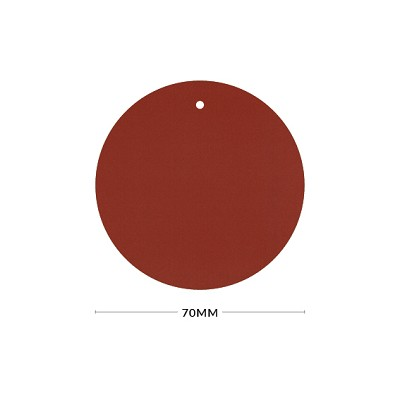 Eco Grande 70mm Round Tag with Optional Hole 308gsm Rouge