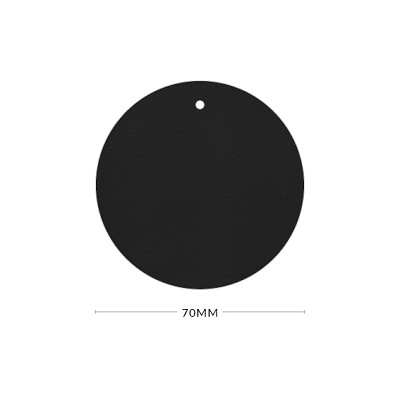 Gmund Colors 70mm Round Tag with Optional Hole 350gsm Black-10