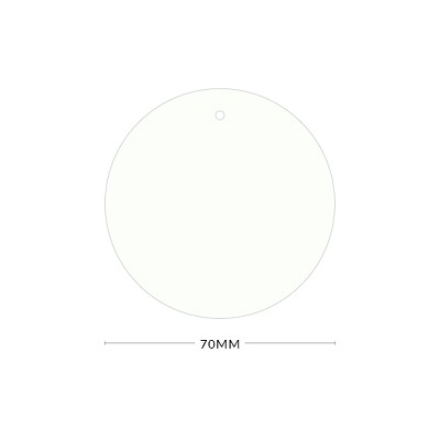 Gmund Colors 70mm Round Tag with Optional Hole 300gsm Winter White-99