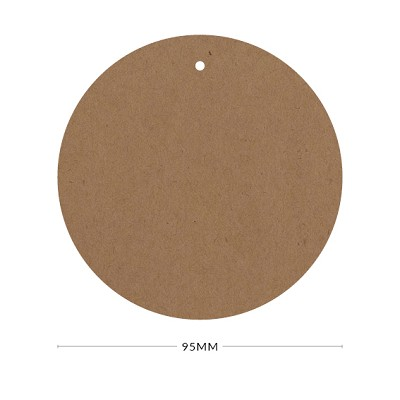 Buffalo Board 95mm Round Tag with Optional Hole 283gsm Natural Brown