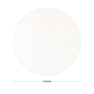 Versa Felt 95mm Round Tag with Optional Hole 270gsm Bright White