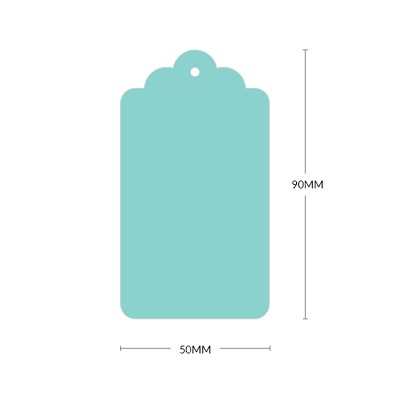 Bloom Scallop Tag with 3mm Hole 270gsm Fresh