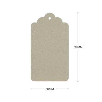 Botany Scallop Tag with 3mm Hole 230gsm Naturaliste