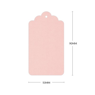Gmund Colors Scallop Tag with 3mm Hole 300gsm Rosa-11