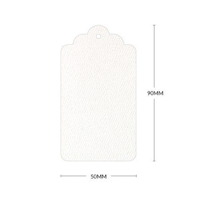 Versa Felt Scallop Tag with 3mm Hole 270gsm Bright White