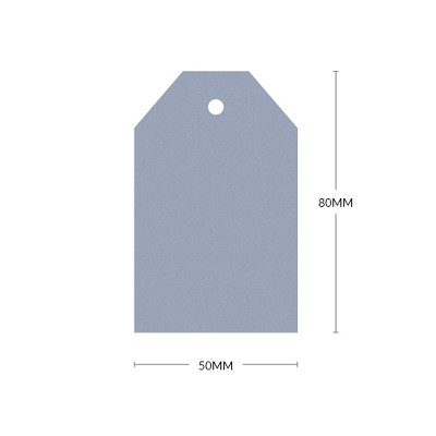 Gmund Colors 80x50mm Tapered Tag with 5mm Hole 300gsm Dusky Blue-44