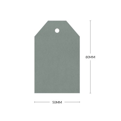 Alchemy 80x50mm Tapered Tag with 5mm Hole 186gsm Ash
