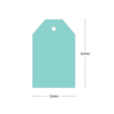 Bloom 80x50mm Tapered Tag with 5mm Hole 270gsm Fresh