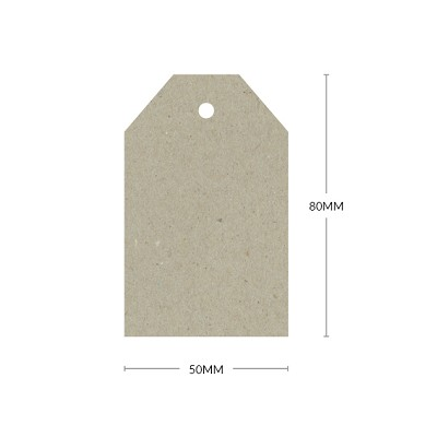 Botany 50x80mm Tapered Tag with 5mm Hole 230gsm Naturaliste