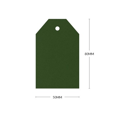 Eco Grande 80x50mm Tapered Tag with 5mm Hole 308gsm Forest