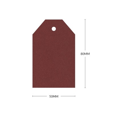 Eco Grande 80x50mm Tapered Tag with 5mm Hole 308gsm Marsala