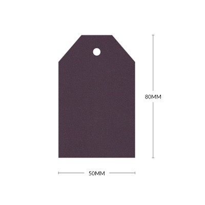 Eco Grande 80x50mm Tapered Tag with 5mm Hole 308gsm Mulberry
