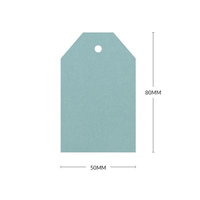 Gmund Colors 80x50mm Tapered Tag with 5mm Hole 300gsm Duck Egg Blue-01