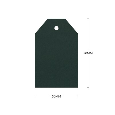 Gmund Colors 80x50mm Tapered Tag with 5mm Hole 300gsm Hunter Green-60