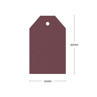 Gmund Colors 80x50mm Tapered Tag with 5mm Hole 300gsm Merlot-04