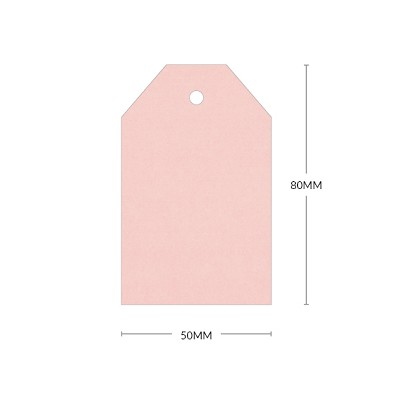 Gmund Colors 80x50mm Tapered Tag with 5mm Hole 300gsm Rosa-11