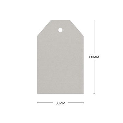 Gmund Colors 80x50mm Tapered Tag with 5mm Hole 300gsm Stone-85