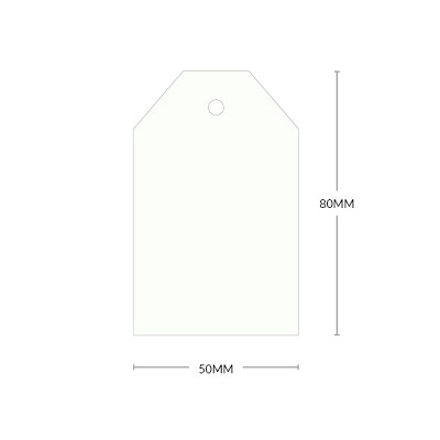 Gmund Colors 80x50mm Tapered Tag with 5mm Hole 300gsm Winter White-99