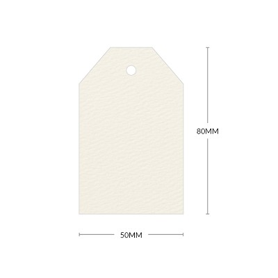 Versa Felt 80x50mm Tapered Tag with 5mm Hole 270gsm Natural
