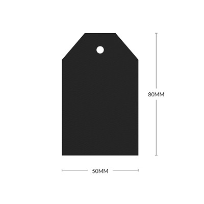Versa Felt 80x50mm Tapered Tag with 5mm Hole 297gsm Eclipse Black