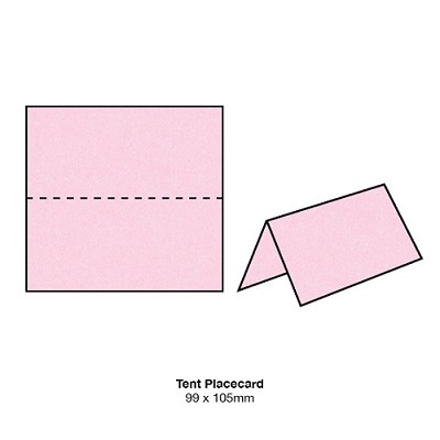 Glamour Puss Tent Placecard 250gsm Fairy Pink