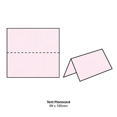 Coco Linen Tent Placecard 170gsm Petite Pink