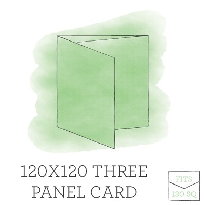 120 x 120 Printed Three Panel Card - Double Sided