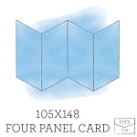 105 x148 Printed Four Panel Card - Double Sided