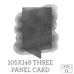 105 x148 Printed Three Panel Card - White Ink Printing Double Sided