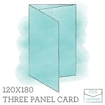 120 x 180 Printed Three Panel Card - Double Sided