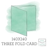 140 x140 Printed Three Panel Card - Double Sided